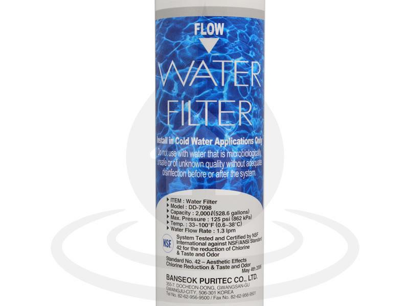 409f03d7fd44e5 DD-7098 x1 (497818) Daewoo Filtre eau Frigo américain - Filtre-Outlet.fr